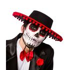 Halloween Mexican DAY OF THE DEAD Hats Zombie Sugar Skull Fancy Dress Mens Adult