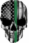 Thin Green Line Punisher- USA Flag Window Decal - Various sizes Free Ship