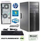 CLEARANCE! Fast HP Compaq 6005 Pro Tower Computer PC with WIN 10 PRO / WIFI /KM