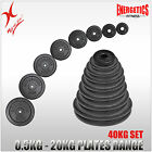 TOTAL 40KG CAST IRON WEIGHT PLATE SET - ENERGETICS WEIGHT PLATES SET