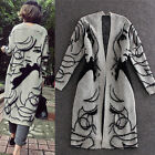 Brand New Spring Autumn Casual Women Long Jackets Loose Coats Cardigan Sweaters