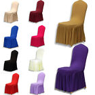 Party Decoration Pleated Stretch Chair Cover Spandex Lycra Cover Wedding Banquet