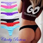 Brazilian Bikini Bottom Swimwear V Thong G-String Cheeky Beachwear Swimsuit FO