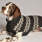 "Chilly Dog Handmade ""Gray Diamonds"" 100% Organic Wool Dog Sweater - All Sizes"