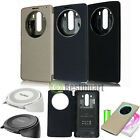 Qi Wireless Charger Charging Pad+Quick Circle NFC Leather Case Cover Fr LG G3 G4