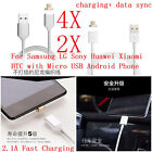 4/2* Fast data Micro USB Metal Magnetic Charging Cable Adapters For Samsung LG