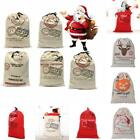 Canvas Merry Christmas Santa Sacks Xmas Stocking Reindeer Gift Storage Bag LJ