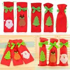 Santa Tree Elk Wine Bottle Cover Bag Xmas Dinner XMAS Party Christmas Decoration