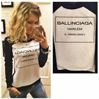 Women Ballinciaga Harlem Long Sleeve Letter Print Sweater Ladies Hoodie Tops