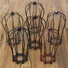 80*100x185mm Industrial Vintage Antique Metal Wire Cage Guard Lampshade Light US