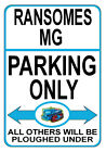 RANSOMES MG PARKING ONLY Metal SIGN / NOTICE gift plaque classic crawler tractor
