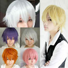 Vogue Men's Handsome Short Straight Cosplay Party Hair Wig Full Wigs 11 Colors