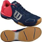 Wilson Vertex Mens Squash Shoes - Navy / Neon Red
