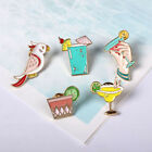 Women Girl Parrot Summer Drink Brooch Pins Jewelry Accessories Xmas Gift