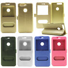 Luxury PU Leather Flip View Window Slim Cover Case Stand For Huawei Honor phone