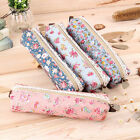 Fashion Flower Floral Lace Pencil Pen Case Cosmetic Makeup Bag Zipper Pouch