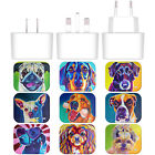 OFFICIAL DAWGART DOGS WHITE UK CHARGER & USB CABLE FOR APPLE iPHONE PHONES