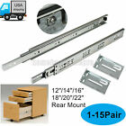 "12""-22"" Full Extention Ball Bearing Drawer Slides Rear Mount 3 Section Smooth"