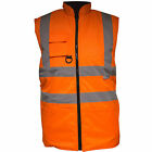 Mens Hi Vis Viz Visibility Workwear Safety Body Warmer Waterproof Size S 5XL