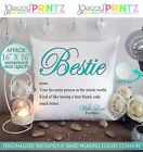 "16""X16"" PERSONALISED CUSHION NOUN BESTIE FRIEND CHRISTMAS GIFT CANVAS BIRTHDAY"