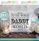 "16"" X16"" PERSONALISED FATHERS DAY GIFT CUSHION KEEPSAKE DADDY CHRISTMAS BIRTHDAY"