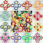 15mm/20mm Mixed Polymer Fimo Clay 5-leaves Flower Spacer Loose Beads pick