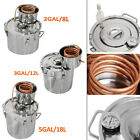 Water Alcohol Wine Home Making Distiller Moonshine Still Stainless Steel Boiler