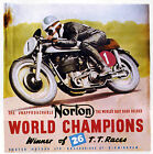 Norton World Champions Motorcycle Racing Poster