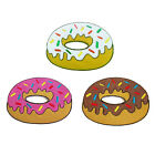 Embroidered Iron on Doughnut Donut Patch Patches Sew On Applique DIY JEans Craft