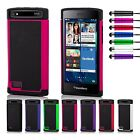 Dual Layer Shockproof Case Cover BlackBerry Phones + Screen Protector & Stylus