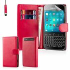 Book Wallet PU Leather Case Cover BlackBerry Phones