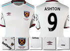 *16 / 17 - UMBRO WEST HAM UNITED AWAY SHIRT SS + PATCHES / ASHTON 9  = KIDS SIZE
