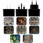 ANDI GREYSCALE KALEIDOSCOPE BLACK EU CHARGER & MICRO-USB CABLE FOR SAMSUNG 1