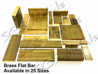 Solid Brass FLAT Bar Extrusion Strip Profile 25 Sizes & 7 Lengths to choose from