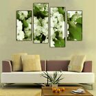 Unframed 4 Pcs Home Decor Canvas Painting Pink Flower Landscape Wall Art Picture