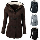 Stylish Womens Long Trench Coat Wool Jacket Overcoat Tops Hooded Windbreaker New
