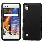 LG X Style L56VL L53BG IMPACT TUFF HYBRID HARD Rubber Skin Cover +Screen Guard