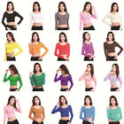 Ladies Muslim Tight T Shirt Islamic Women's Long Sleeve Tops Modal Cotton Blouse