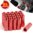 20 Red 60MM M12X1.5 Lug Nuts Long Extended Tuner Racing Open End for Acura Honda