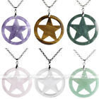 Charm Sculpture Pentagram Crystal Stone Dangle Pendant Fit for Necklace Jewelry