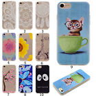 Rubber Patterned Slim Silicone Soft TPU Cute Back Cover Case For iphone Samsung