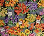 Fresh Market Flowers Quilt Panel &/or Coordinating Fabric ~ Andover ~ BTY or BTP
