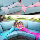 1Pc Mermaid Tail Knitting Blanket and Cashmere Blend Blanket Mermaid Tail Gift