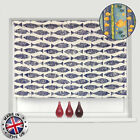 **SALE** MADE TO MEASURE *EASYFIT* FISH PATTERN STRAIGHT EDGE ROLLER BLINDS