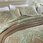 Floral Queen King Size Blanket Patchwork Quilted Bedspreads Coverlet Throw Rug