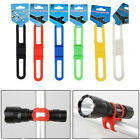 5 X Cycling Bike Bicycle Silicone Elastic Strap Bandage Flashlight Mount Holder