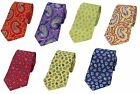 Plain Tonal Patterned Paisley Silk Ties
