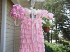 SMALL LACY ROMPER, HEADBAND, BAREFOOT SANDALS & PEARLS (PINK, WHITE,IVORY MORE)