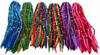 FAIR TRADE LONG FELT ELASTICATED BEADED HAIR SCRUNCHY EXTENSIONS DREADLOCKS