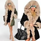 Women Ladies Winter Long Warm Thick Parka Faux Fur Jacket Hooded Coat TXST